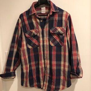 Vintage CARHARTT Heavy plaid Button up Work Shirt